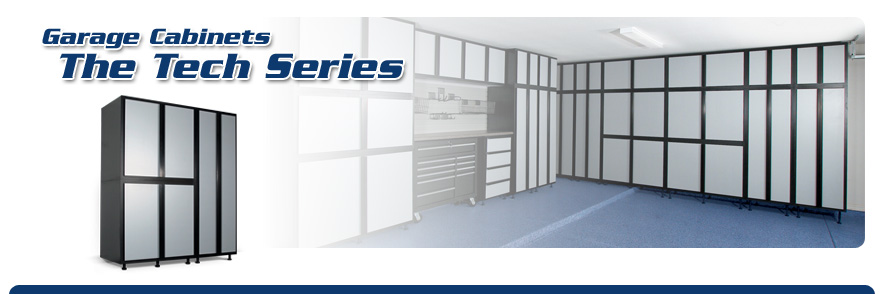 Tech garage cabinets tampa st petersburg hillsborough the new slide lok tech series brings a modern streamlined look to your garage the new tech series line features a stunning two tone thermofused finish solutioingenieria Image collections